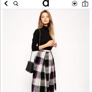ASOS full midi skirt in bold check